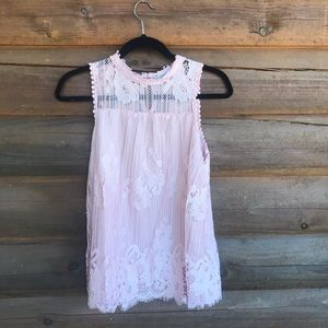 Rose Blush Lace Top
